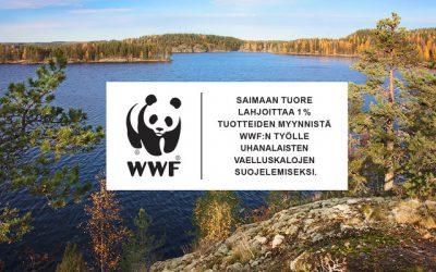 Ostamalla Saimaan Tuoretta tuet luonnonsuojelutyötä
